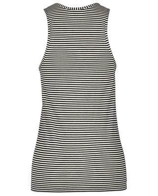 Monogrammed striped jersey tank top SAINT LAURENT PARIS