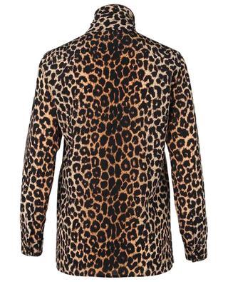 Leopard printed silk shirt with necktie SAINT LAURENT PARIS
