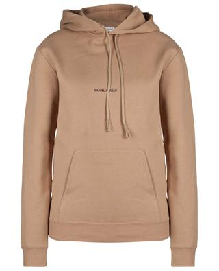 SAINT LAURENT LOGO long hooded sweatshirt SAINT LAURENT PARIS