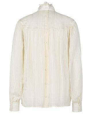 Striped silk blouse with Victorian collar and Lurex details SAINT LAURENT PARIS