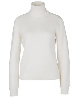 Turtleneck rib knit cashmere jumper with epaulette sleeves SAINT LAURENT PARIS