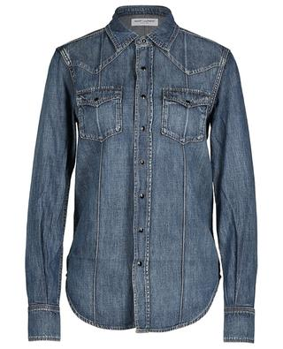 Chemise en jean western SAINT LAURENT PARIS