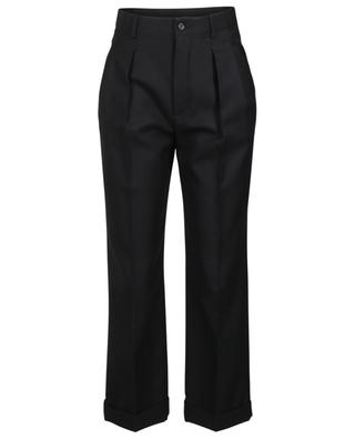 Virgin wool wide-leg trousers SAINT LAURENT PARIS