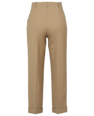 Bundfaltenhose aus Wollgabardine mit hoher Taille SAINT LAURENT PARIS