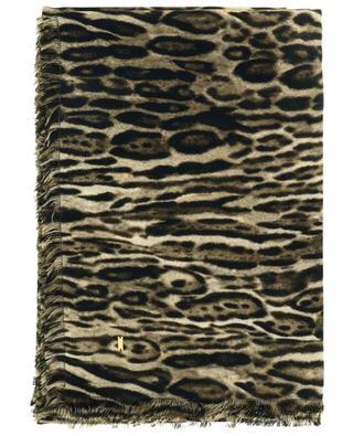 Ocelot large printed square shawl SAINT LAURENT PARIS