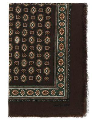 Cashmere and silk abstract print scarf SAINT LAURENT PARIS