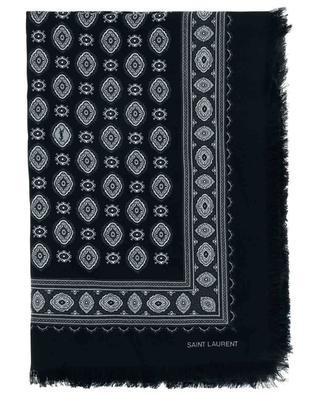 Schal mit abstraktem Print aus Kaschmir und Seide SAINT LAURENT PARIS