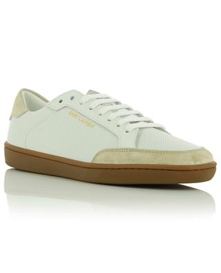 Court Classic SL/10 low-top lace-up sneakers in perforated leather and suede SAINT LAURENT PARIS