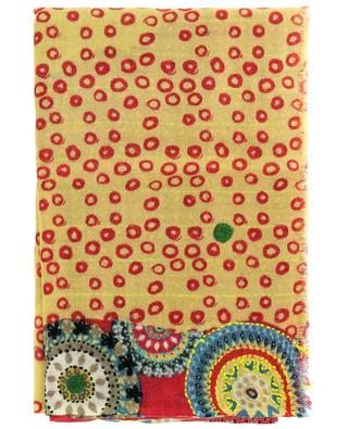 Conte printed and embroidered wool scarf STORIATIPIC