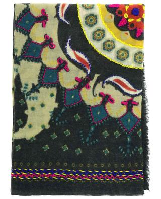 Ego embroidered wool scarf STORIATIPIC