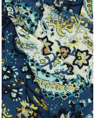 Paisley Halo printed wool and silk scarf STORIATIPIC