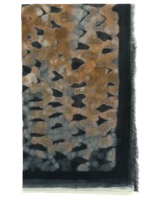 Écharpe fine en cachemire imprimé léopard Savana 19 ANDREA'S 47