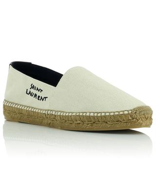Espadrilles en toile brodée logo Signature SAINT LAURENT PARIS