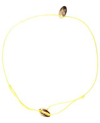Bracelet cordon avec coquillage plaqué or Mini Cauri CAROLINE NAJMAN