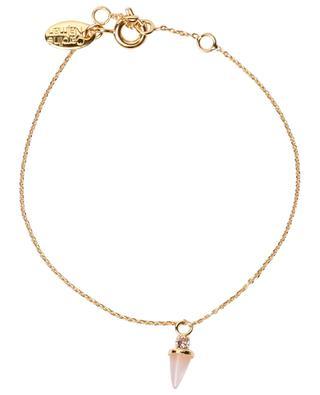 Bracelet plaqué or orné de quartz Sharp CAROLINE NAJMAN