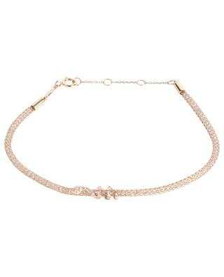Bracelet en or rose et diamants Lurex Serpent DJULA