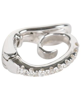 Mono-boucle d'oreille en or blanc et diamants Single DJULA