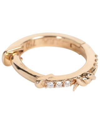 Créole en or rose et diamants Piercing Bar Couture DJULA