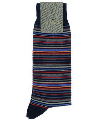 Emerald cotton blend striped socks ALTO