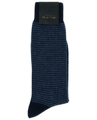 Socken aus Baumwoll- und Kaschmirmix mit Hahnentrittmuster Bombay ALTO MILANO