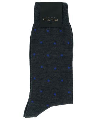Polka dot printed virgin wool blend socks ALTO MILANO