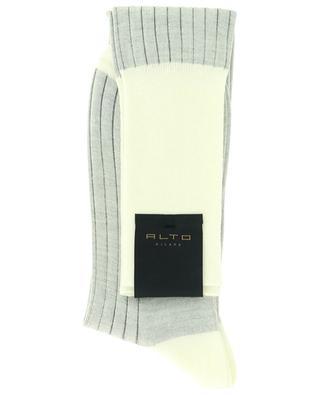 Virgin wool and cotton bicolour socks ALTO MILANO