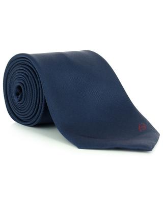 Silk tie with embroidered logo BRIONI
