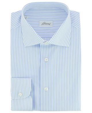 Klassisches Hemd aus gestreifter texturierter Baumwolle William BRIONI