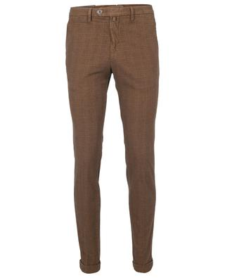 Checked slim fit chino trousers B SETTECENTO