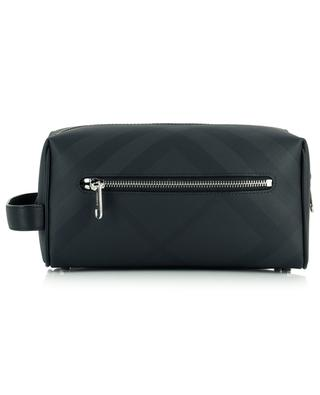 London Check canvas and leather toiletry bag BURBERRY