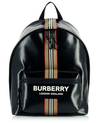 Sac à dos enduit Logo and Icon Stripe Jett BURBERRY