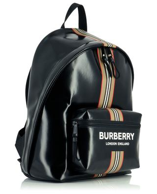 Logo and Icon Stripe Jett coated backpack BURBERRY