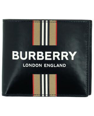 Brieftasche aus Glattleder Logo + Icon Stripe BURBERRY