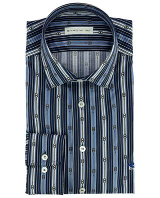 Striped buckle print cotton shirt ETRO