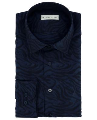 Animal patterned cotton jacquard shirt ETRO