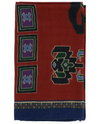 Shaal-Nur cashmere and silk geometrical scarf ETRO