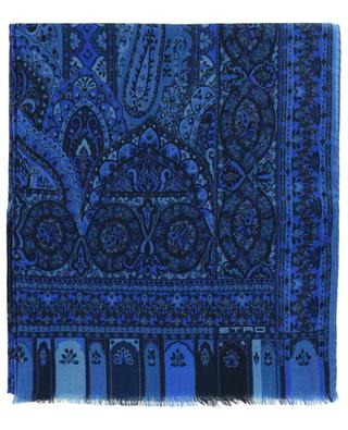 Wool and silk scarf with paisley print ETRO