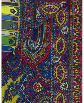 Écharpe en laine et soie avec imprimé paisley ETRO