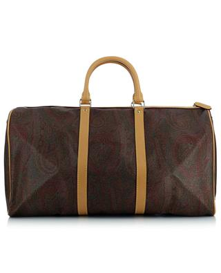 Large paisley printed textured leather travel bag ETRO
