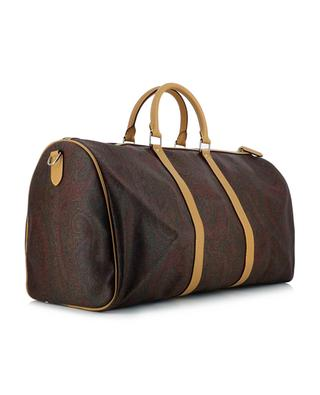 Grand sac de voyage en cuir texturé motifs paisley ETRO