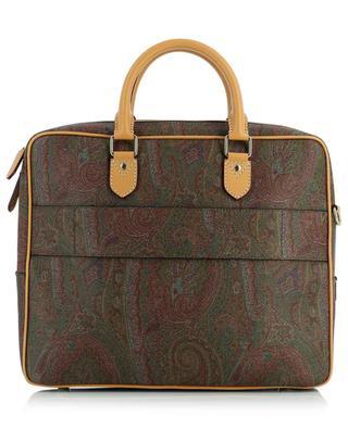 Attaché case en cuir texturé motif paisley ETRO