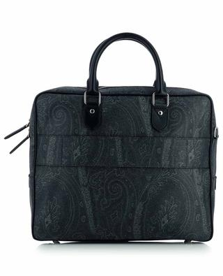 Textured paisley printed leather briefcase ETRO