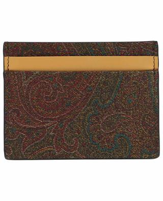 Paisley-Kreditkartenetui aus Baumwollmix ETRO