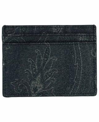 Porte-cartes en coton mélangé imprimé Paisley ETRO
