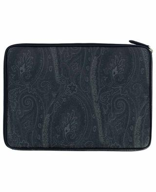 Paisley printed textured leather document case ETRO
