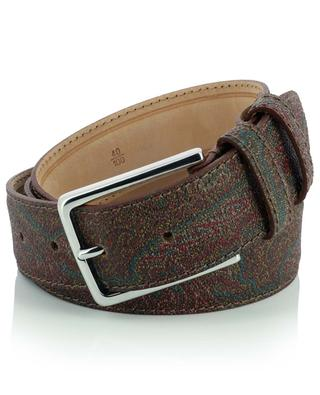 Paisley leather belt with brass buckle ETRO