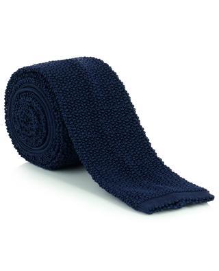 Textured airy knit silk tie DRAKES