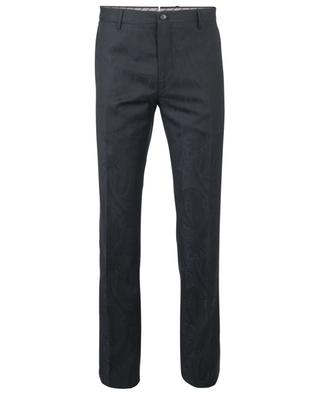 Paisley textured wool trousers ETRO