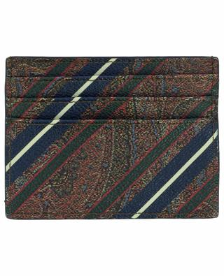 PVC and cotton-blend credit card holder ETRO
