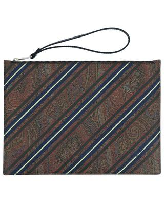 Paisley printed textured leather pouch ETRO